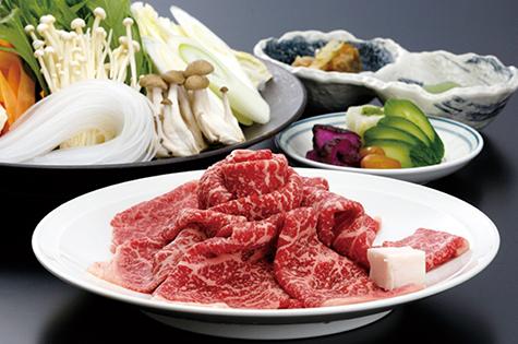 常陸牛すき焼き(先附、香の物、うどん付)